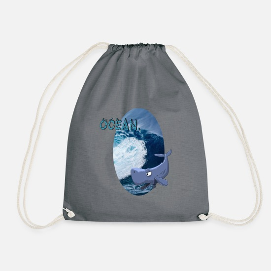 Surfing Bags & Backpacks - Ocean - Drawstring Bag gray
