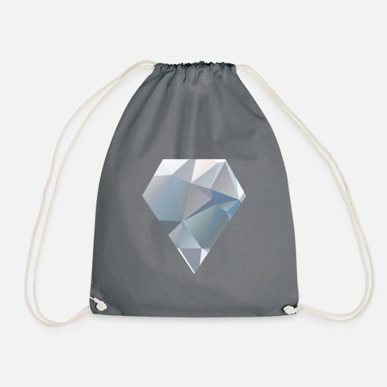 Gift Idea Bags & Backpacks - diamond - Drawstring Bag grey
