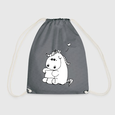 Chubby Chubby unicorn - Drawstring Bag