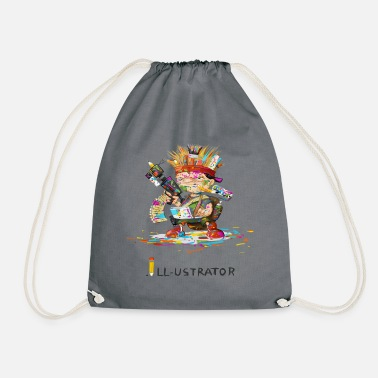 Illustration illustrator - Drawstring Bag