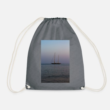 Ship in the sunset - Drawstring Bag