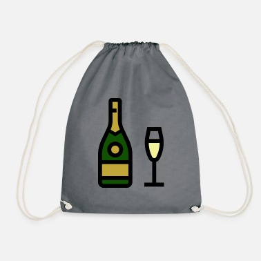 Champagne Glass Champagne glass, sparkling wine, champagne glass - Drawstring Bag