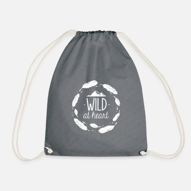 Campfire Wild in the heart - Drawstring Bag