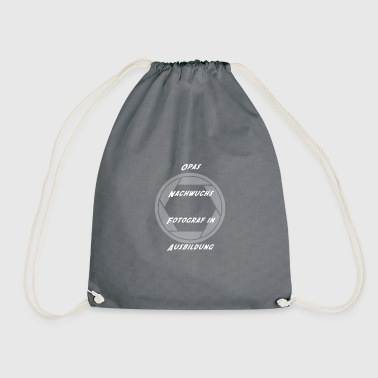 Grandpa's offspring photographer in training - Drawstring Bag