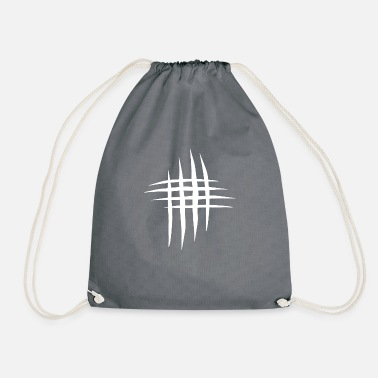 Scratch Scratch scratches in white - Drawstring Bag