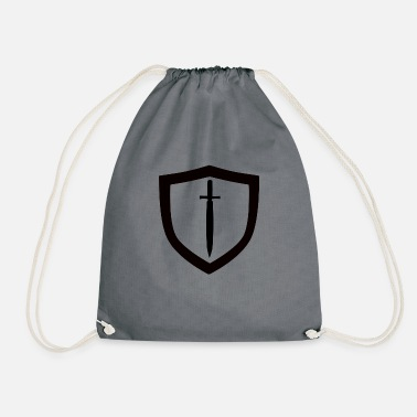 Jiu-jitsu shield and sword - Drawstring Bag