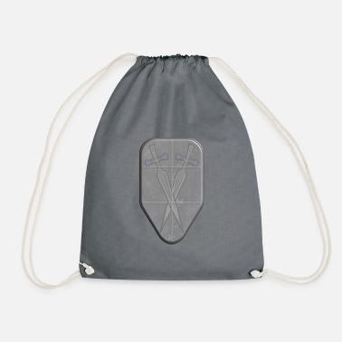 Shield with 2 swords - Drawstring Bag