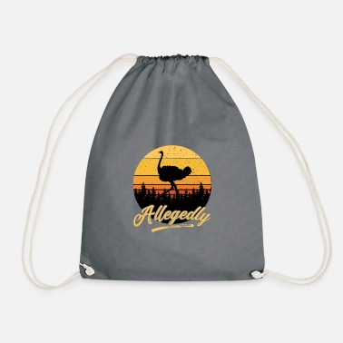Flightless Bird Letterkenny Allegedly Ostrich Flightless Bird - Drawstring Bag