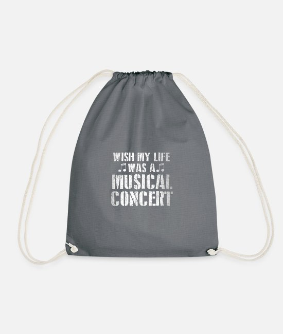 Musical Concert Bags & Backpacks - Musical Concert - Drawstring Bag grey