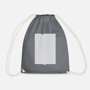 Abstract Abstract lines art surfing in the water - Drawstring Bag