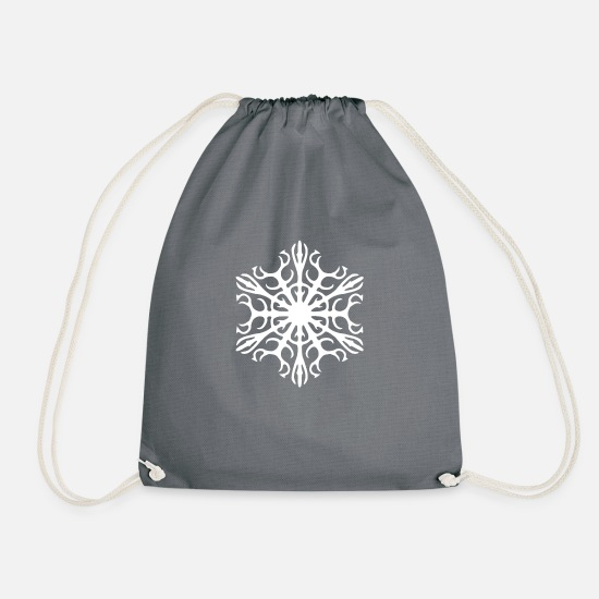 Gift Idea Bags & Backpacks - Ice Crystal - Drawstring Bag grey