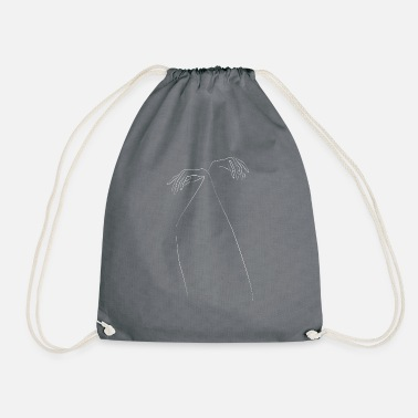 Hanging white - Drawstring Bag