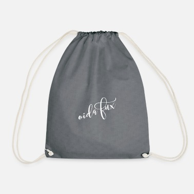 Eastern Austria Handwriting Oida Fux Austria dialect dialect - Drawstring Bag