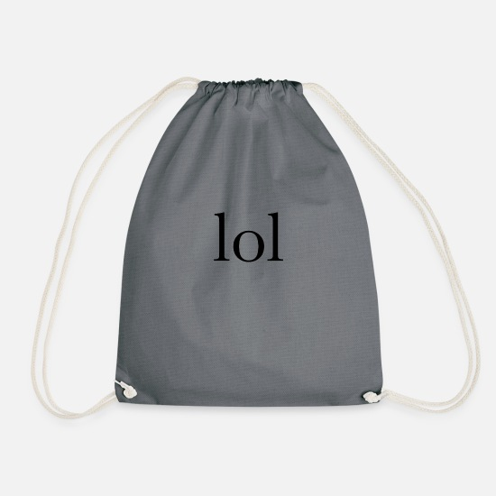 Word Bags & Backpacks - lol - Drawstring Bag gray