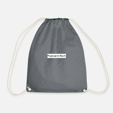 Belly Aircraft in the belly - Drawstring Bag