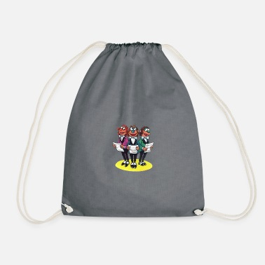 License Squeaking Bee by HELLO SPENCER - Drawstring Bag