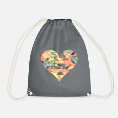 Pixel-heart Pixel heart - Drawstring Bag