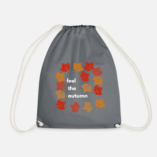 Gift Idea Bags & Backpacks - Autumn design - Drawstring Bag gray