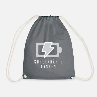 Fill Up fill up with superpowers - Drawstring Bag