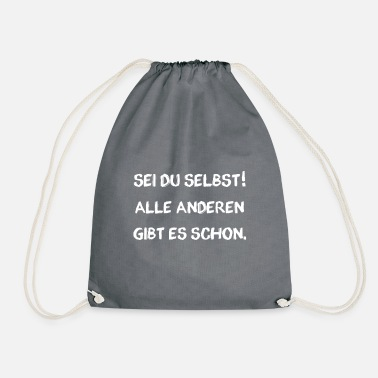 Yourself Be yourself - Drawstring Bag