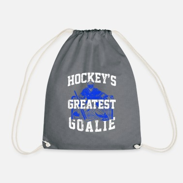 Hockey Goalie Hockey goalie ice hockey - Drawstring Bag