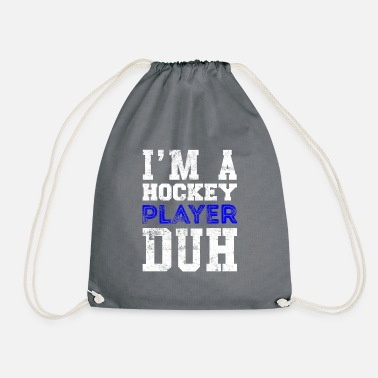 Cool Quote Hockey player quote Cool quote - Drawstring Bag