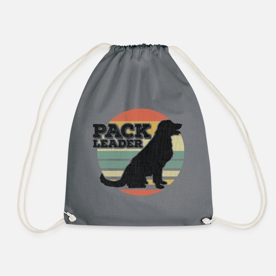 Dog Owner Bags & Backpacks - Pack Leader! - Drawstring Bag gray