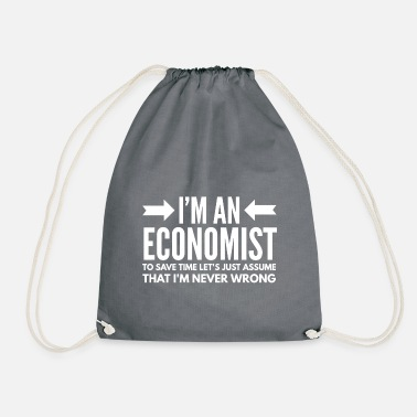 Financial Crisis Economics Occupations Economist Finance Gift A - Drawstring Bag