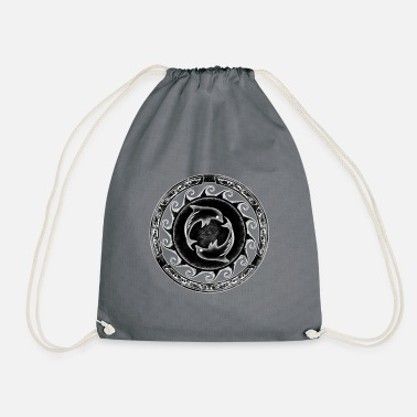 Ice Crystal Atlantis dolphins crystal white - Drawstring Bag