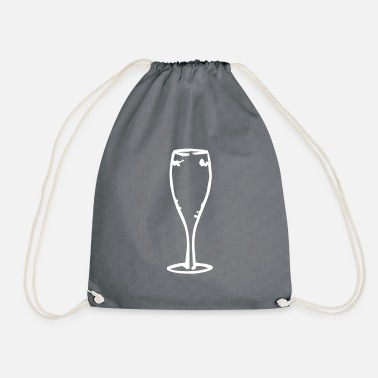 Champagne Glass champagne glass - Drawstring Bag