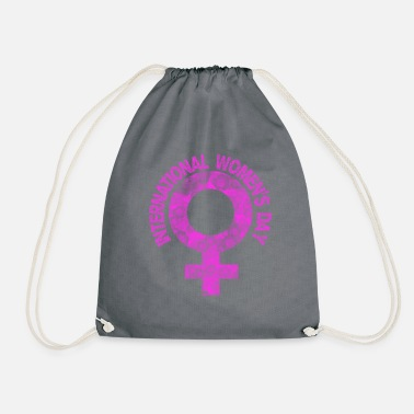 Womens Day International Women's Day - womens day - Drawstring Bag