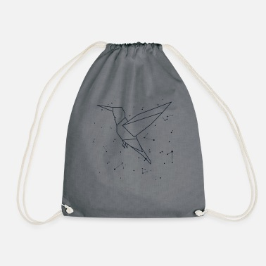 Universe Hummingbird Constellation Astrology Stars Sign - Drawstring Bag