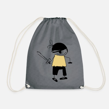 Graphic Pirates a pirate - Drawstring Bag