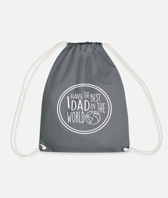 Father And Son Bags & Backpacks - father - Drawstring Bag grey