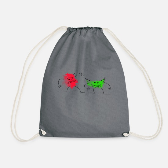 Goblin Bags & Backpacks - goblins - Drawstring Bag gray