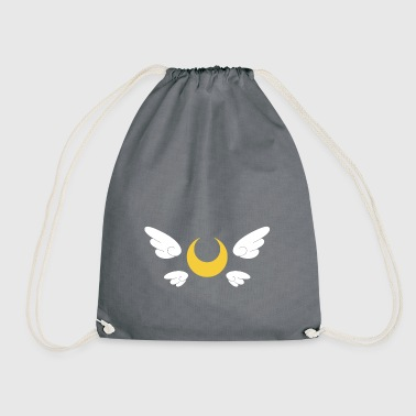 winged moon 2 - Drawstring Bag