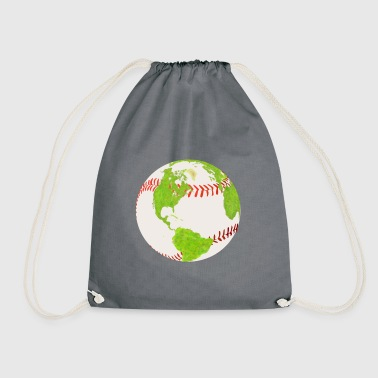 baseball earth planet globe erde globus - Turnbeutel