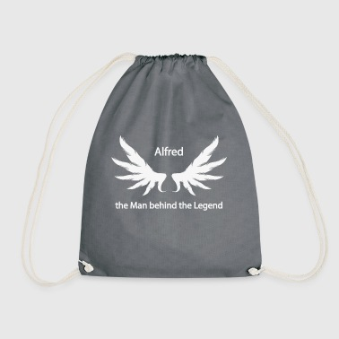 Alfred the Man behind the Legend - Drawstring Bag