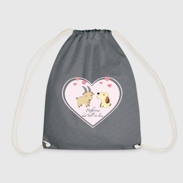 Different, but still in love - Drawstring Bag