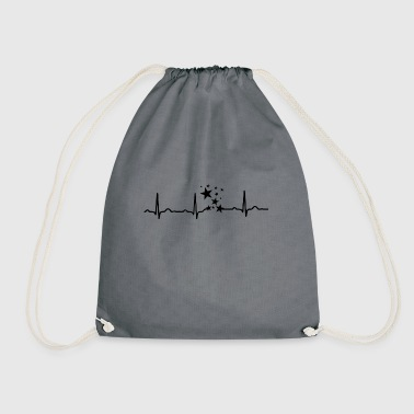 GIFT - EKG HEARTLINIE DISCOKUGEL STARS Black - Drawstring Bag