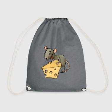 Fiese mouse rodent mouse vermin rodent cheese - Drawstring Bag