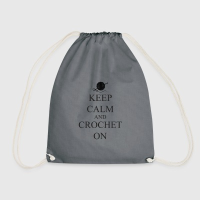 Keep Calm Crochet on - Drawstring Bag