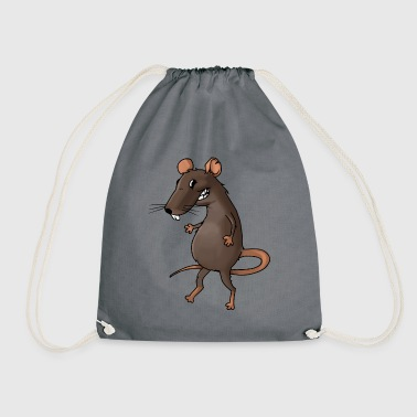 Fiese rat rodent vermin rodent mouse - Drawstring Bag