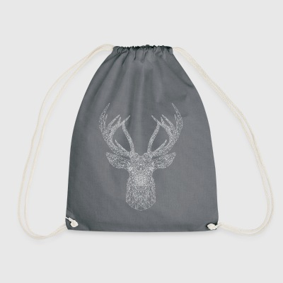 white deer - Drawstring Bag