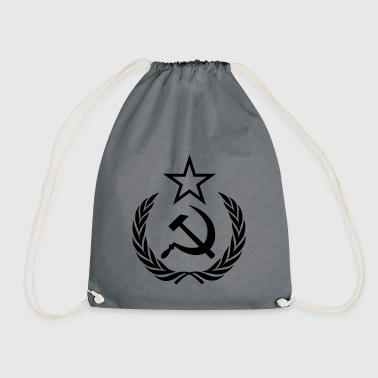 Communism hammer and sickle Russia - Drawstring Bag
