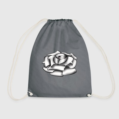 Rose white - Drawstring Bag