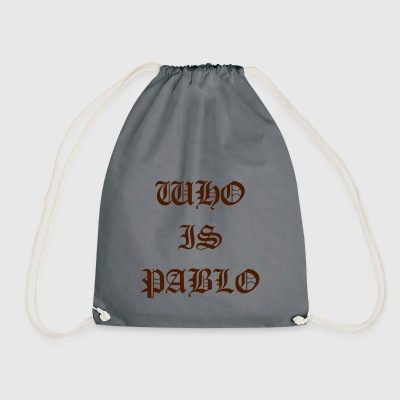 who is pablo | Fan Shirt | typography - Drawstring Bag