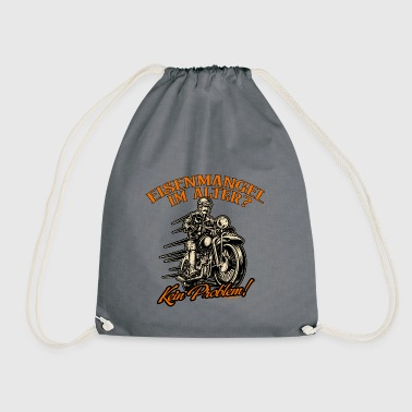 Biker iron deficiency in old age no problem - motorcycle - Drawstring Bag