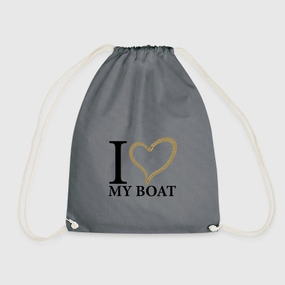 I love my boat - Turnbeutel