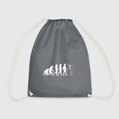 Pantomime evolution gift silent silently silent - Drawstring Bag
